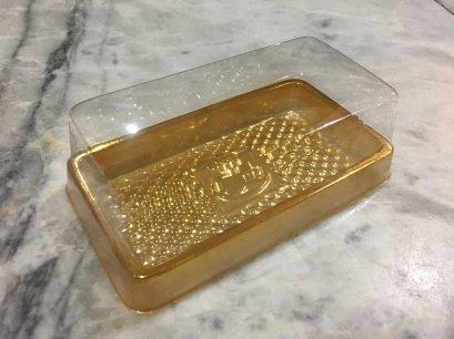 B009 พลาสติก ผืนผ้า ฐานทอง DIA: 120x70x40 mm@50
