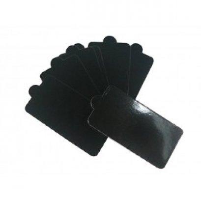 PG-005-Black แผ่นรองเค้กสี่เหลี่ยมผืนผ้า ดำ 12*5.5 cm@100