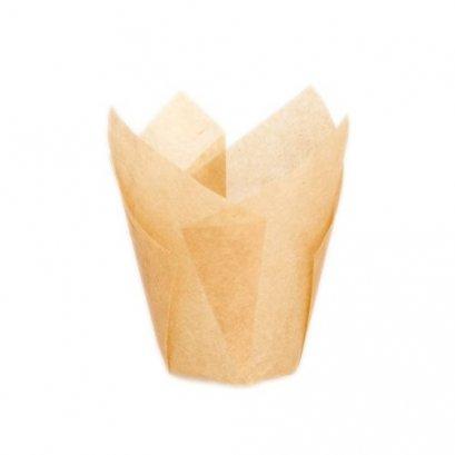 ถ้วยอบกระดาษ คราฟ เล็ก ก้น 30 สูง 65 mm@100