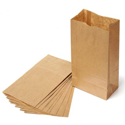8371 Stand Brown Paper Bag 13*8*22 cm@100