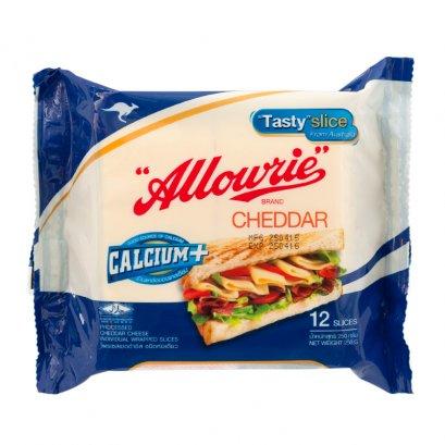 Cheddar Cheese ชนิดแผ่นห่อเดี่ยว ตรา อลาวลี่ 250 กรัม