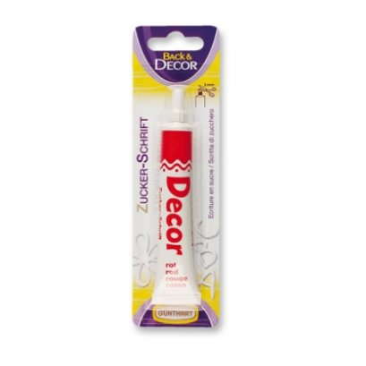1691 Writing Icing Giltter Color: Red