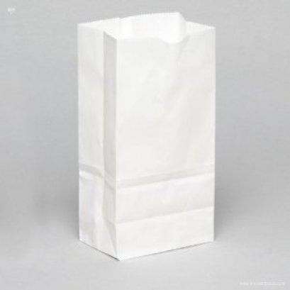 8372 ถุงกระดาษบางพับข้าง แบบมีก้น ขาว 13*8*22 cm@100