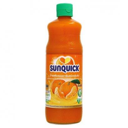 น้ำส้มแมนดาริชนิดเข้มข้น ตราซันควิก 840 ml.
