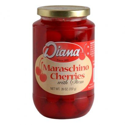 Diana's Maraschino cherries with Stems 737 g