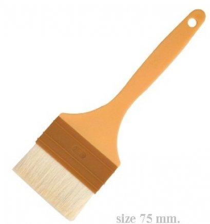 SN4121 Sanneng Wool Pastry Brush-Plastic Handle 75 mm DIA: 235*75*35 mm