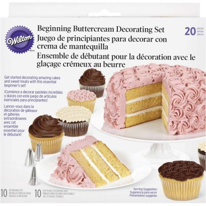 2104-1367 Wilton 20PC CAKE DECORATING SET