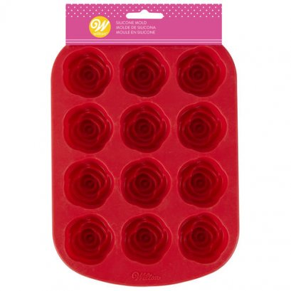 2105-4198 12 CAV ROSES SILICONE MOLD