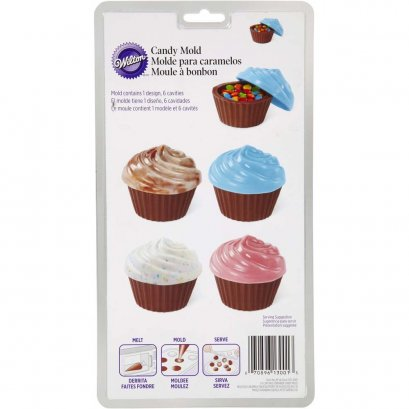 2115-0001 Wilton CUPCAKE CANDY CONTAINER MOLD
