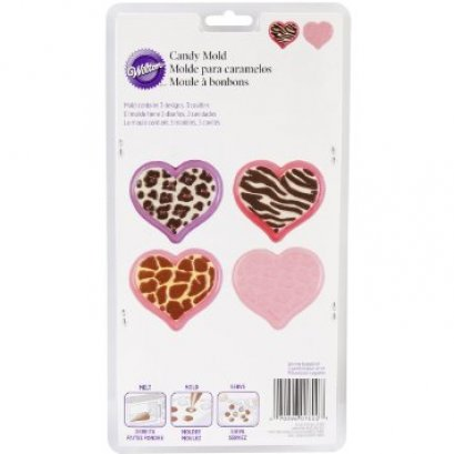 2115-1800 Wilton ANIMAL PRINT HEART CANDY