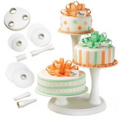 307-350 Wilton 3 TIER PILLAR CAKE STAND