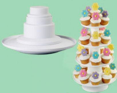 307-856 Wilton 4 TIER STACKED DESSERT TOWER