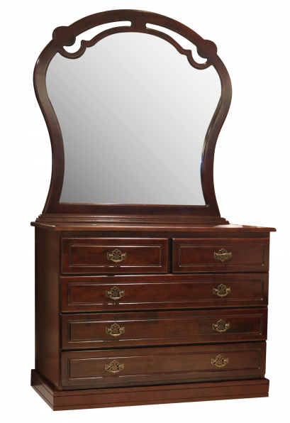 CARA DRESSER 5 DRAWER & MIRROR