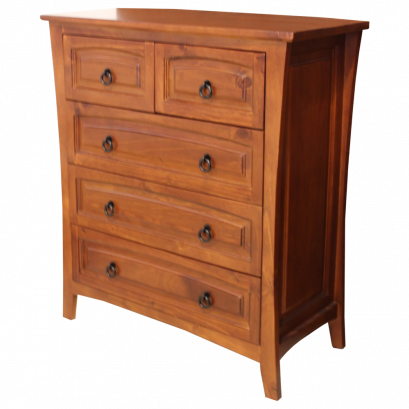 CANBERRA TALL BOY 5 DRAWER