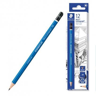 ดินสอ 2B staedtler สเตดเล่อร์ Lumograph 12 แท่ง