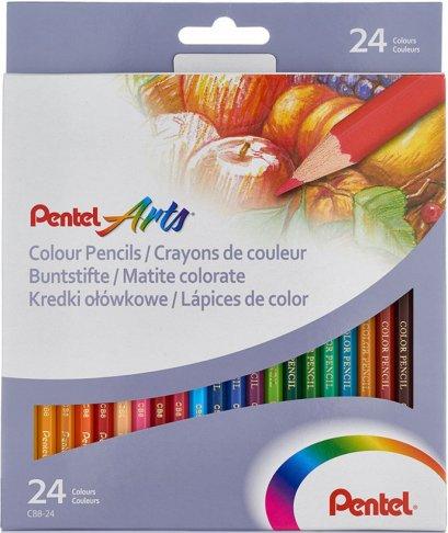 สีไม้ 24 สี เพนเทล