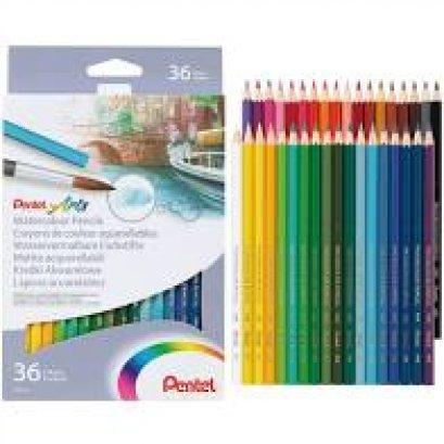 สีไม้ระบายน้ำ 36 สี Pentel CB9-36