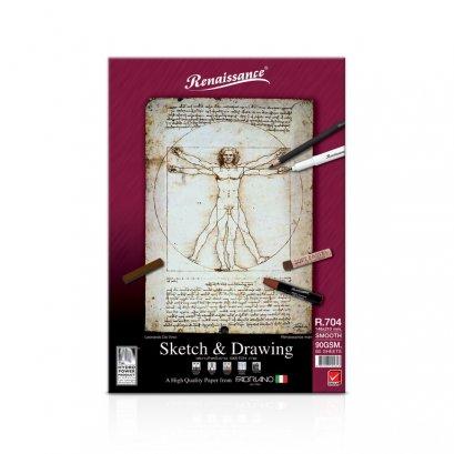 สมุดสเก็ตเรนาซองส์ Renaissance R704 A5 สันกาว หนา 90 แกรม