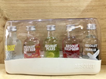Absolut mini set 50ml x 5  (Alc 40%)
