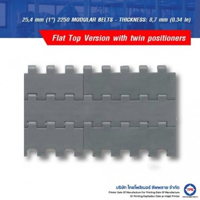 """25,4 mm (1"""") 2250 MODULAR BELTS - THICKNESS: 8,7 mm (0.34 in)"""
