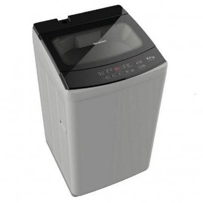 SHARP เครื่องซักผ้าฝาบน รุ่น ES-W80T-GY 8กิโลกรัม