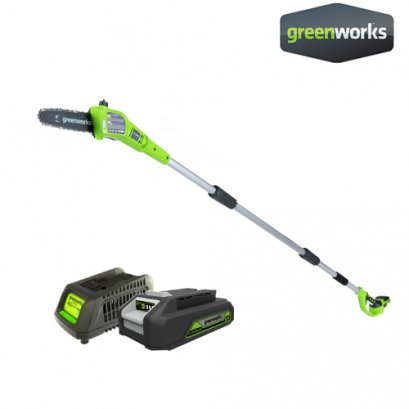 POLE SAW 24V INCLUDING BATTERY AND CHARGER