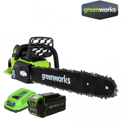 """CHAINSAW 40V, BAR 10"""" INCLUDING BATTERY AND CHARGER"""
