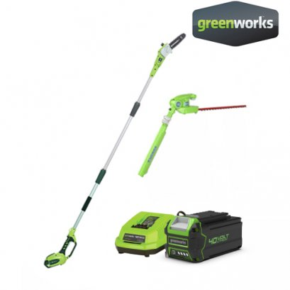 POLE SAW 2 IN 1, 40V INCLUDING BATTERY AND CHARGER