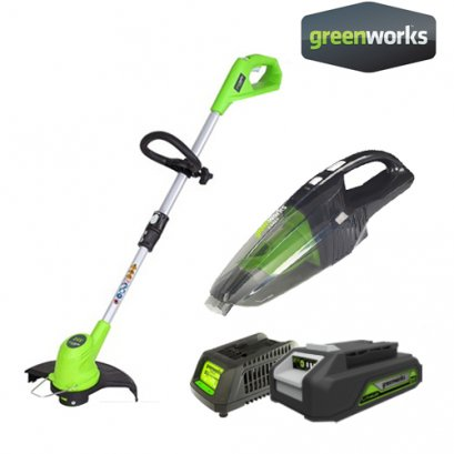 BATTERY TRIMMER INCLUDING BATTERY (2AH)AND CHARGER FREE VACUUM CLEANER 24V(1,600฿)