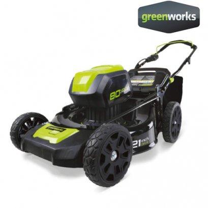GREENWORKS รถตัดหญ้าเดินตามแบตเตอรี่ 80V (เฉพาะตัวเครื่อง)