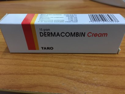 H382  (3 TUBES) DERMACOMBIN CREAM  TREAT SKIN INFECTION 15 G.