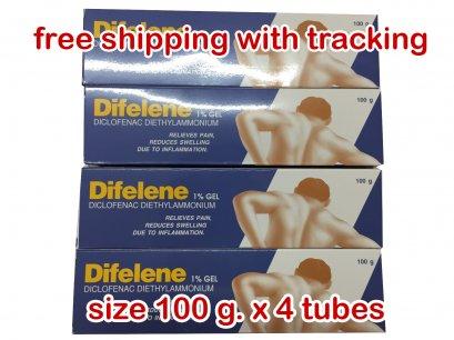 H33 Difelene Diclofenac gel 100 g.x 4 tubes
