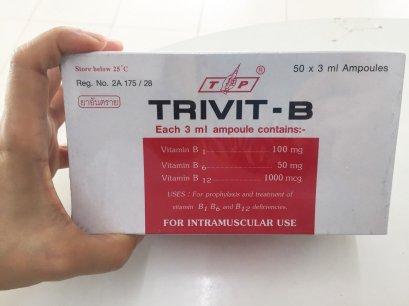 H294  ( 1 BOX) Vitamin B1 B6 B12 complex injectable Trivit B