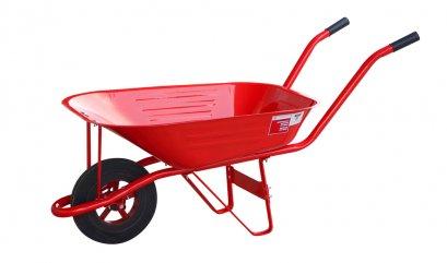 รถเข็นปูน สีแดง