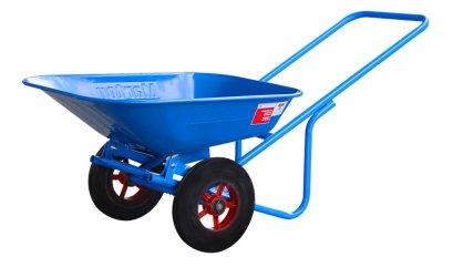 รถเข็นปูนล้อคู่สีน้ำเงิน ล้อแม็กซ์