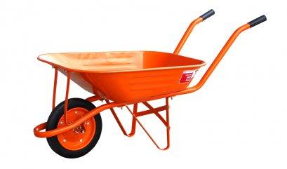 รถเข็นปูนล้อเดี่ยวยางตัน (สีส้ม)