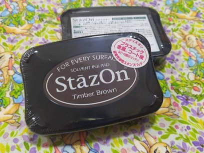 stazon pigment ink pad timber brown