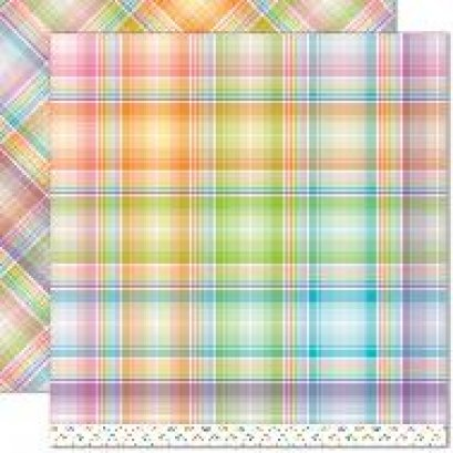 Lawn Fawn - Perfectly Plaid Collection - Rainbow