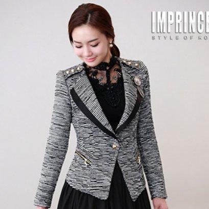[*พร้อมส่ง F] [เสื้อลูกไม้] [SZ-3152] SZ++เสื้อ++เสื้อคอลูกไม้สีดำประดับมุก แขนยาว