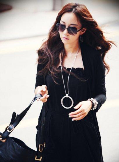 [[*พร้อมส่ง F]] [SZ-9015] Style By Shez++เสื้อคลุม++สีดำยาว แขนยาวและมีกระเป๋า
