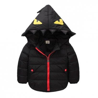 [PreOrder ] [LP-1003-1] เสื้อโค้ทเด็กสีดำ มีหมวกฮู้ด เป็นโค้ทสั้นซับขนใส่กันหนาว กันฝน ลุยหิมะได้ค่ะ
