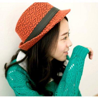 [[*พร้อมส่ง]] [CW-350] CatWorld++หมวก++หมวกสีแดงผ้าขนคาดสายสีดำ