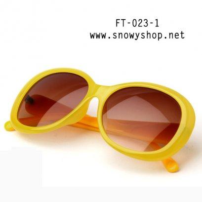 [[พร้อมส่ง]] [FT-023-1] แว่นตากันแดด++แว่นตากันแดดผู้หญิงกรอบใหญ่ ขอบลายการ์ตูน