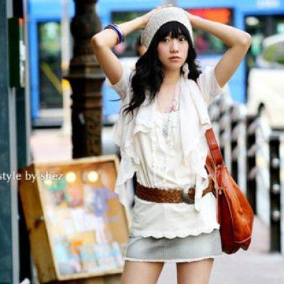 [*พร้อมส่งF] [เสื้อลูกไม้] [SZ-1196] SZ++เสื้อ++เสื้อสีขาวผ้ายืด พร้อมกับเสื้อลูกไม้ซีทรูใส่คลุมด้านนอก(ชุด2ชิ้น)