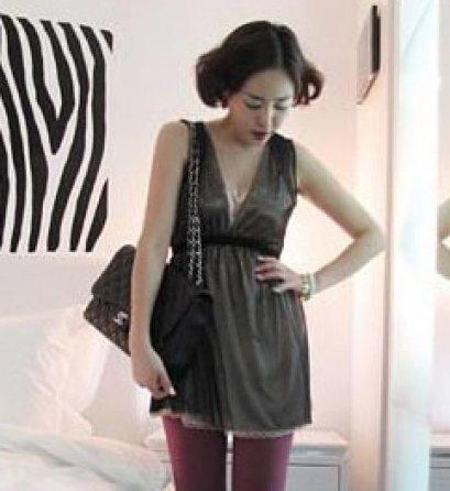 [[*พร้อมส่ง F]] [SZ-1558] SZ++เสื้อ++เสื้อผ้าตาข่าวสีดำเนื้อบาง ซ้อนด้วยเสื้อยืดข้างในสีครีมค่ะ(รุ่นFS8062)