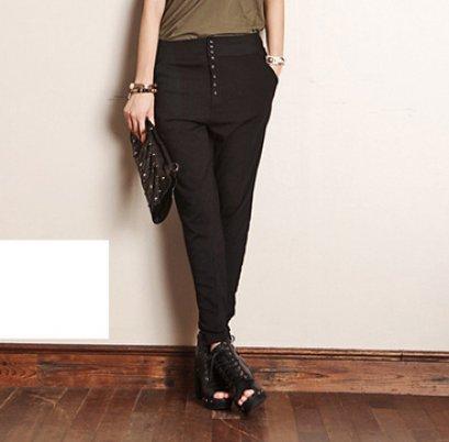 [[*พร้อมส่ง F]] [SZ-8223] SZ++กางเกง++กางเกงขายาวสีดำ