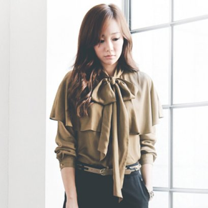 [[*พร้อมส่ง M]] [SZ-9688] Style By SZ++เสื้อ++เสื้อแขนยาวสีน้ำตาล