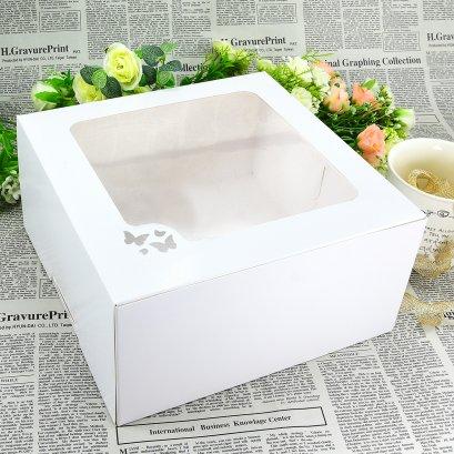 กล่องเค้กสีขาว 2 ปอนด์ ทรงสูง (WB10)