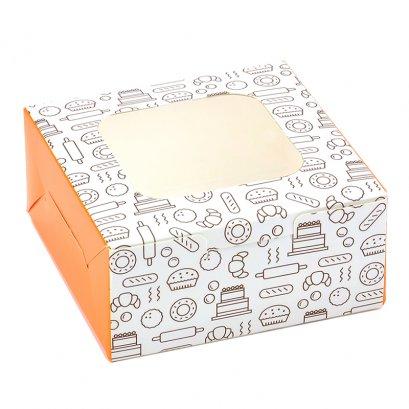 กล่องเบเกอรี่ BB16 ลาย Bakery