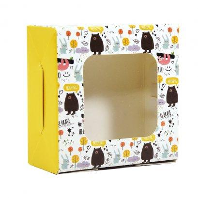 กล่องเบเกอรี่ BB16 ลาย Jungle สีเหลือง